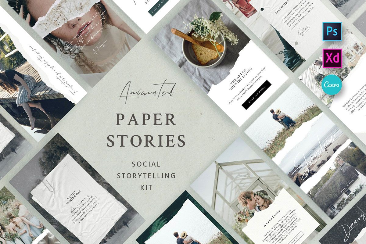 Paper Animated Stories – Social Kit