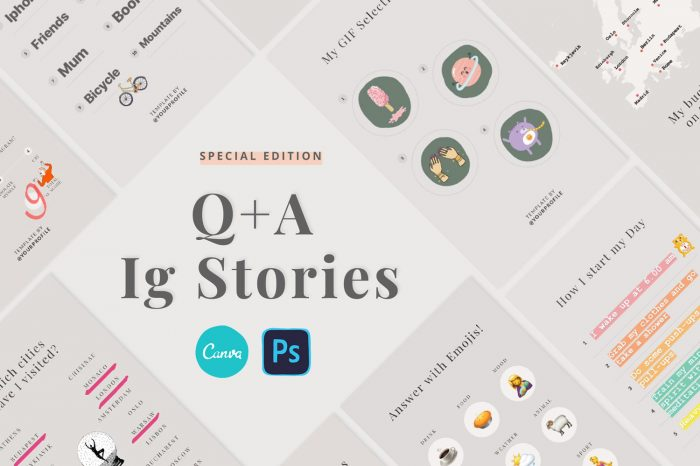 Questions and answer Stories Templates