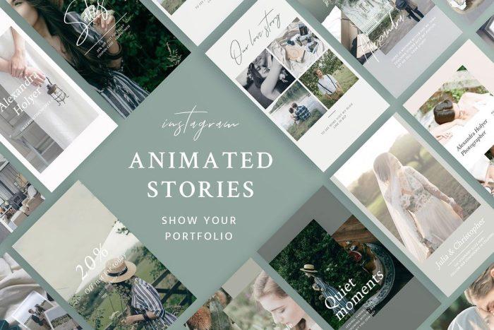 portfolio animated instagram stories
