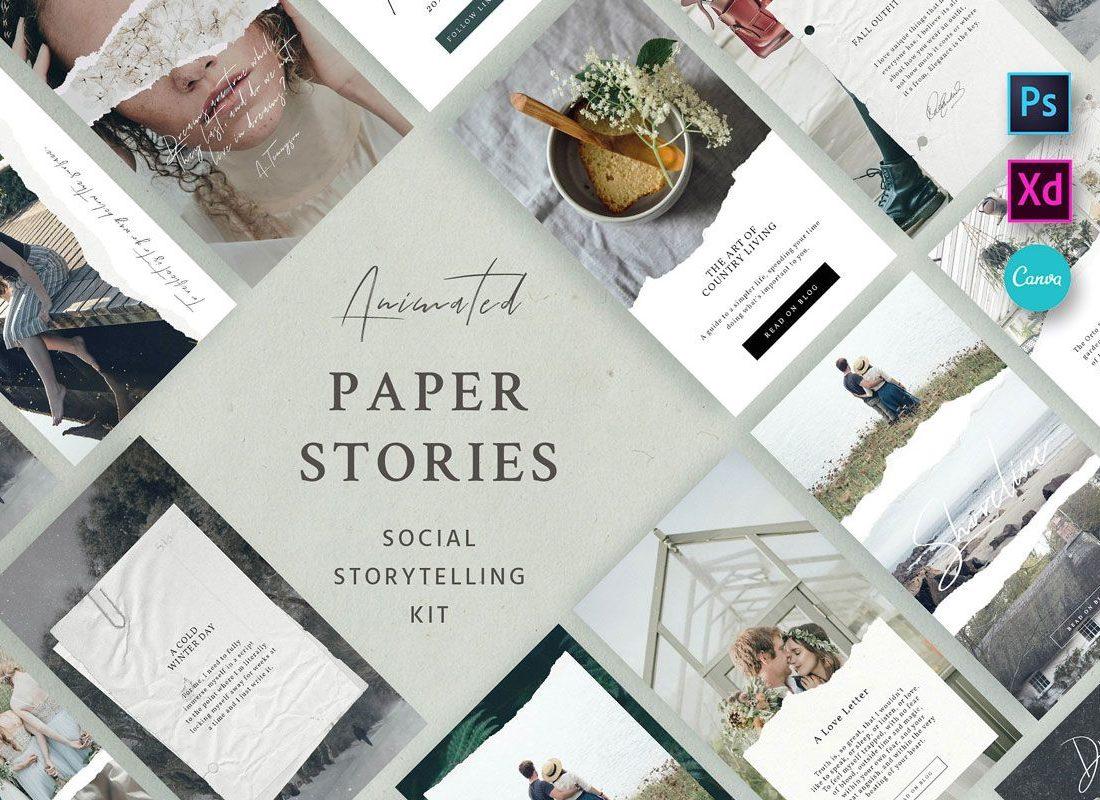 Paper story Social kit