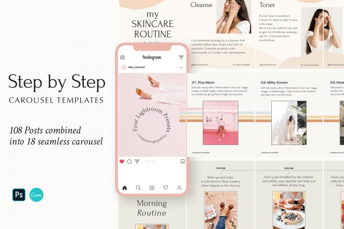 Step by Step Carousel Templates