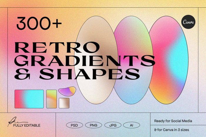 Angeles - Retro Gradients Shapes